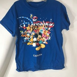 Disney Kids Small California Character T-Shirt